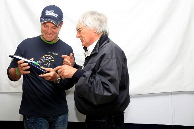 Рубенс Баррикелло отмечает трехсотый Гран При